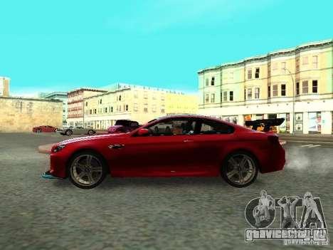 BMW M6 2013 для GTA San Andreas вид справа