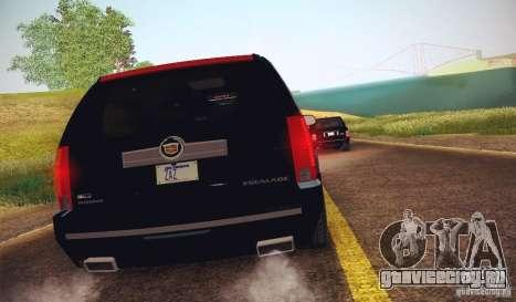 Cadillac Escalade ESV 2012 для GTA San Andreas вид сзади слева