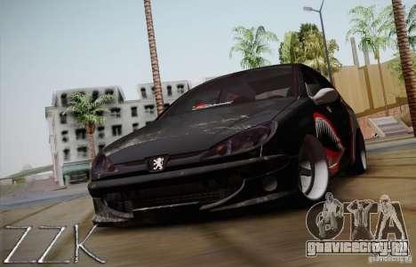 Peugeot 206 Shark Edition для GTA San Andreas