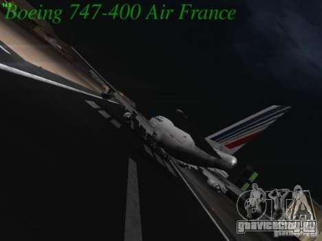 Boeing 747-400 Air France для GTA San Andreas вид справа