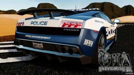 Lamborghini Gallardo LP570-4 Superleggera Police для GTA 4 вид сзади слева