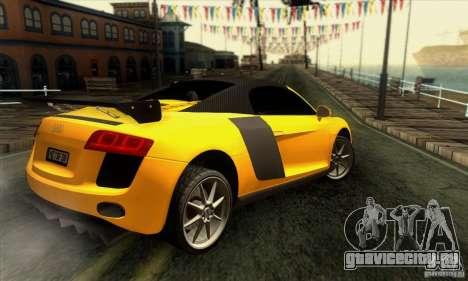 Audi R8 Spyder Tunable для GTA San Andreas двигатель
