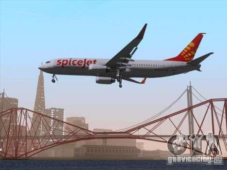 Boeing 737-8F2 Spicejet для GTA San Andreas