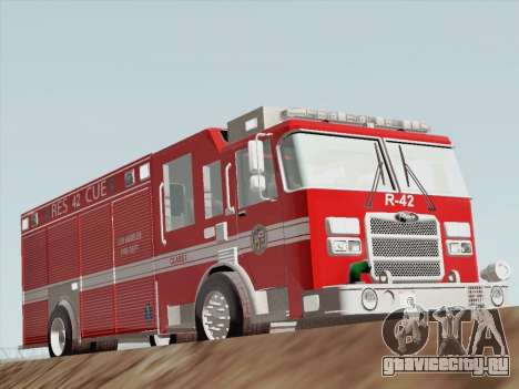 Pierce Contender LAFD Rescue 42 для GTA San Andreas вид слева