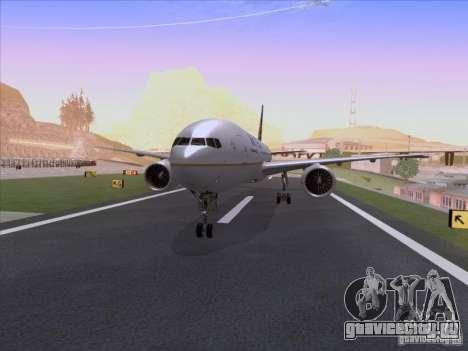 Boeing 777-200 United Airlines для GTA San Andreas вид слева