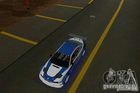 BMW M3 GTR NFSMW для GTA Vice City вид справа