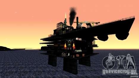 Нефтяная платформа в Лос-Сантос для GTA San Andreas третий скриншот