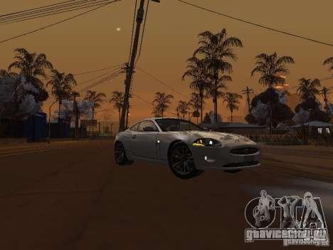 Jaguar XK для GTA San Andreas вид сзади