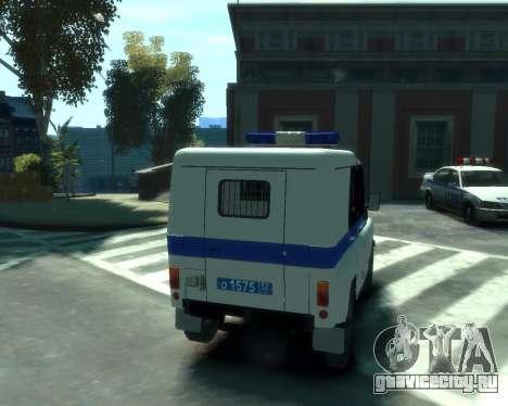 УАЗ 31512 Полиция для GTA 4 вид сзади