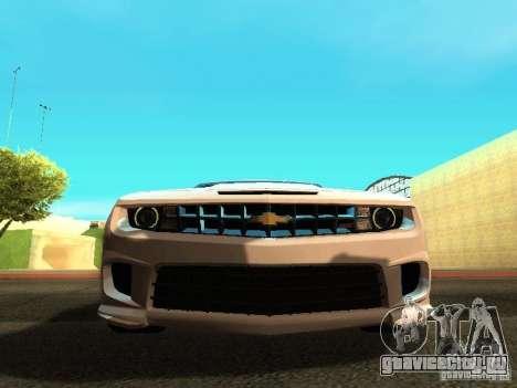 Chevrolet Camaro SS 2010 для GTA San Andreas вид изнутри