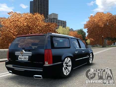 Cadillac Escalade ESV 2012 DUB для GTA 4 вид слева