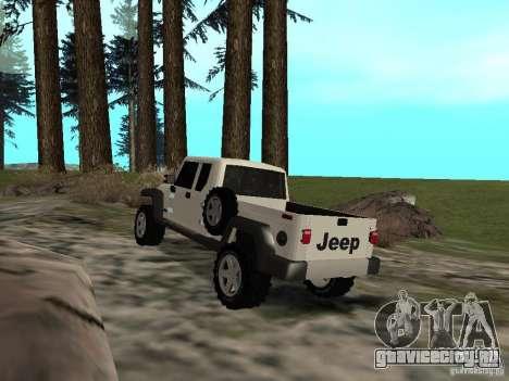 Jeep Gladiator для GTA San Andreas вид сзади слева