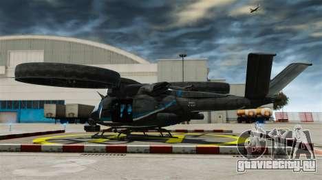 Транспортный вертолёт SA-2 «Самсон» для GTA 4 вид сзади слева