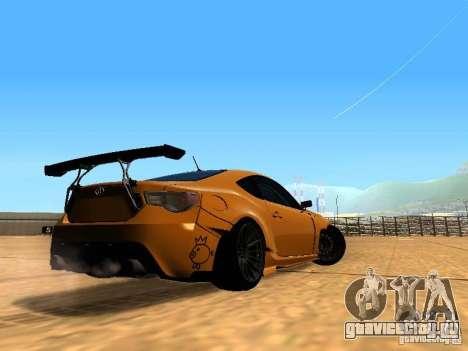 Toyota FT86 Rocket Bunny V2 для GTA San Andreas вид справа