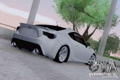 Toyota GT86 для GTA San Andreas вид справа