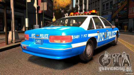 Chevrolet Caprice 1993 NYPD для GTA 4