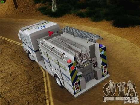 Pierce Pumpers. B.C.F.D. FIRE-EMS для GTA San Andreas вид снизу