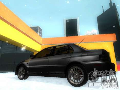 Mitsubishi Lancer Evo IX MR Evolution для GTA San Andreas вид слева