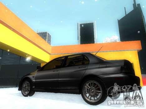 Mitsubishi Lancer Evo IX MR Evolution для GTA San Andreas вид слева