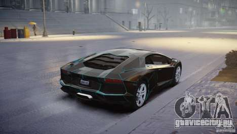 Lamborghini Aventador LP700-4 для GTA 4 вид сзади слева