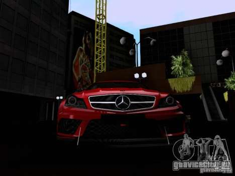 Mercedes-Benz C63 AMG 2012 Black Series для GTA San Andreas вид сбоку