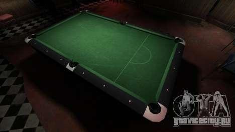 Улучшенный бильярдный стол в баре 8 шаров для GTA 4 третий скриншот