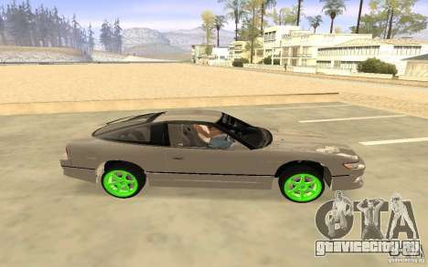Nissan 200SX Monster Energy для GTA San Andreas вид сзади слева