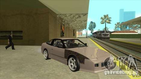 Nissan 240sx S13 JDM для GTA San Andreas вид сзади