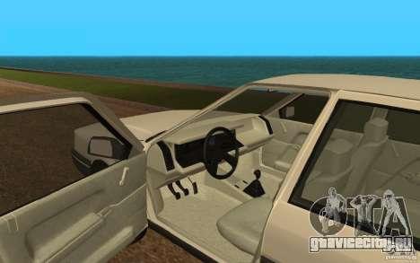 Renault 21 GTD для GTA San Andreas вид сзади