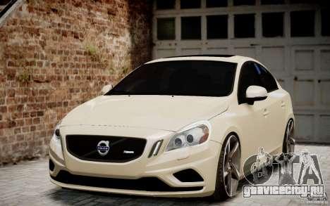 Volvo S60 R-Design 2011 для GTA 4 вид сзади