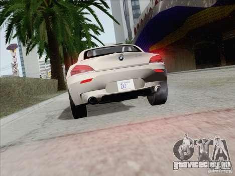 BMW Z4 2011 для GTA San Andreas вид сбоку
