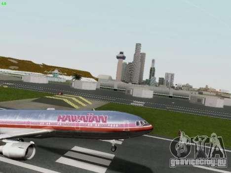 McDonell Douglas DC-10-30 Hawaiian для GTA San Andreas вид сбоку