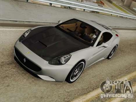 Ferrari California для GTA San Andreas салон