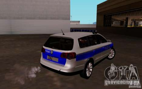 Volkswagen Passat B6 Variant Polizei для GTA San Andreas вид справа