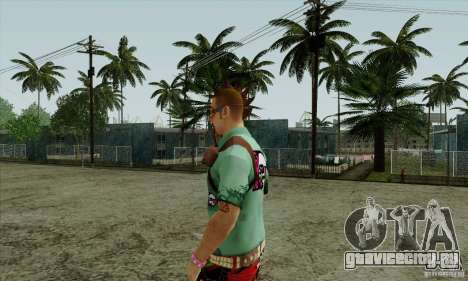Скин на замену Fam1 для GTA San Andreas третий скриншот