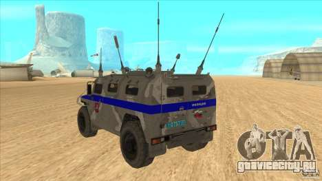 ГАЗ-23034 СПМ-1 Тигр для GTA San Andreas вид сзади слева