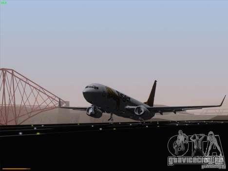 Boeing 737-800 Tiger Airways для GTA San Andreas вид сзади слева