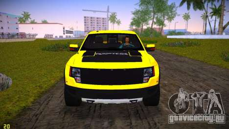Ford F-150 SVT Raptor для GTA Vice City вид изнутри