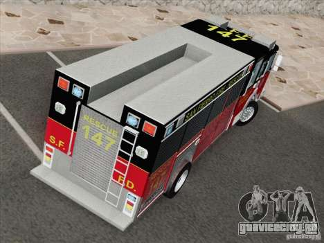 Pierce SFFD Rescue для GTA San Andreas вид изнутри