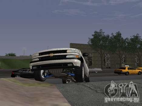 Chevorlet Silverado 2000 для GTA San Andreas вид изнутри