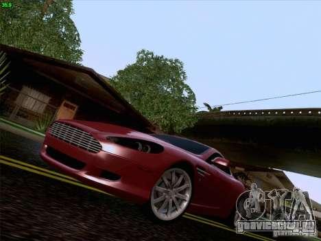 Aston Martin DB9 для GTA San Andreas вид снизу