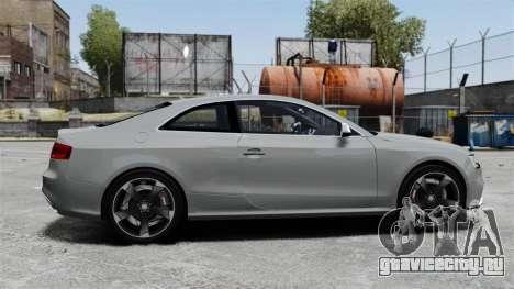 Audi RS5 2012 для GTA 4 вид слева