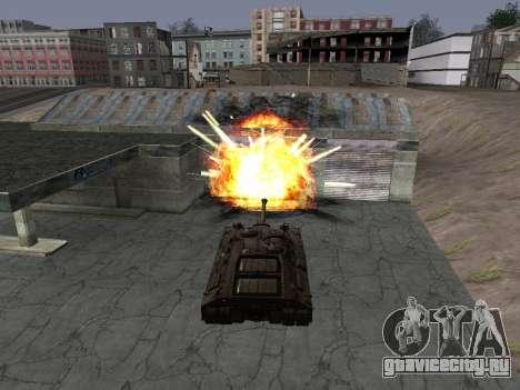ПТ-САУ T95 для GTA San Andreas вид слева