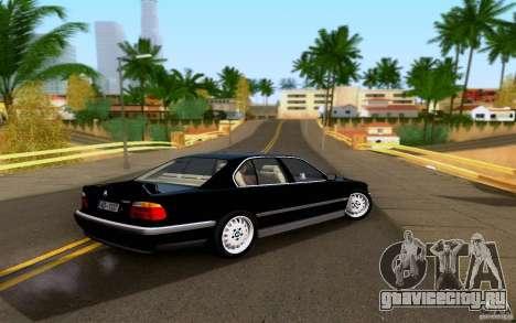 BMW 730i E38 FBI для GTA San Andreas вид слева
