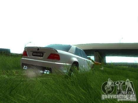 Mercedes-Benz W124 BRABUS для GTA San Andreas вид сзади