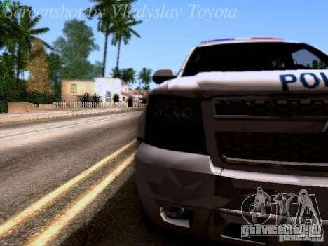 Chevrolet Tahoe 2007 NYPD для GTA San Andreas вид изнутри