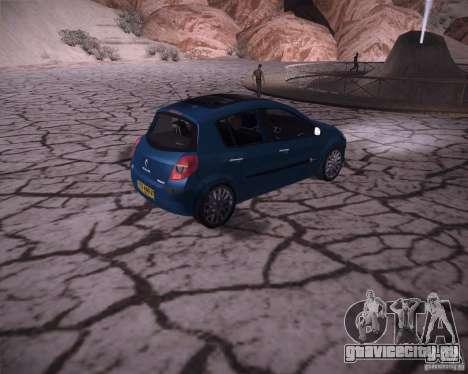 Renault Clio III для GTA San Andreas вид справа