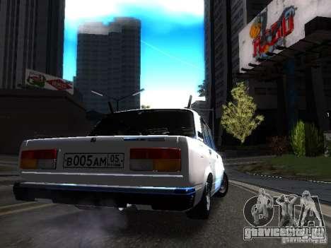 ВАЗ 2107 DAG для GTA San Andreas вид справа