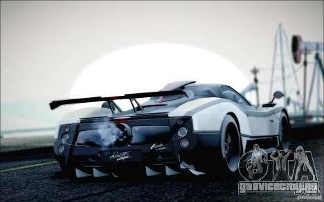 Pagani Zonda Cinque Roadster 2009 для GTA San Andreas вид слева