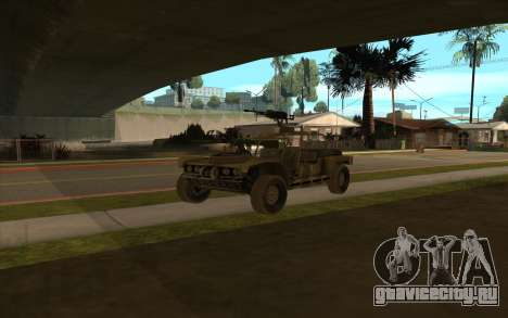 FAV Buggy из Battlefield 2 для GTA San Andreas вид справа